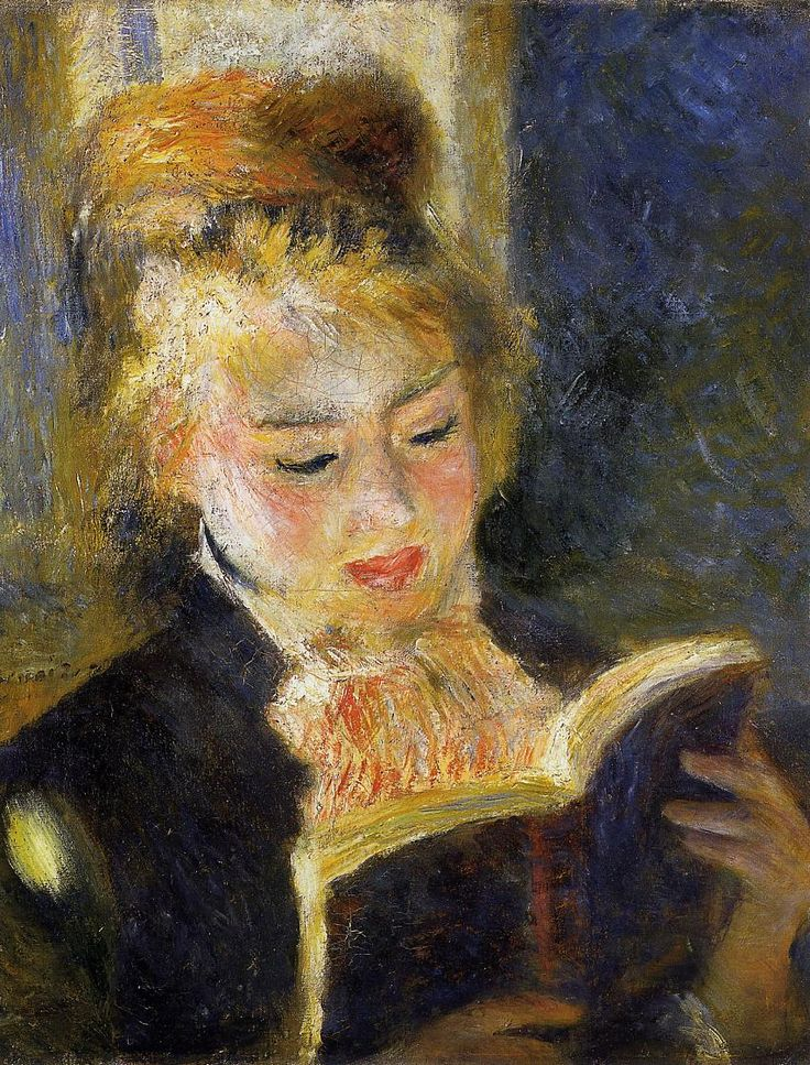 Pierre-Auguste Renoir - The Reader (Young Woman Reading a Book), 1875-1876, oil on canvas