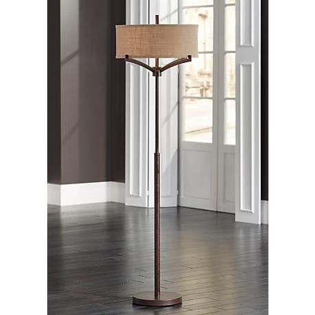 Franklin Iron Works™ Tremont Floor Lamp with Burlap Shade - 30 Best I LOVE LAMP Images On Pinterest I Love Lamp, Floor Lamps