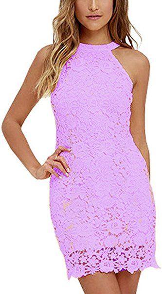 5c5f67a34cb Damen Sommerkleid Vintage  rmellos Spitzenkleid Ballkleid cocktailkleid  Retro Rockabilly Festlich Partykleid - Sommer Hosen Trends