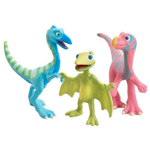 Learning Curve Dinosaur Train Collectible Dinosaur 3 Pack - My Fast Friends: Rick, Ollie And Tiny Based on the Jim Henson PBS show, The Dinosaur Train. Collect all your favorite Dinosaur Train Characters. Includes three plastic dinosaurs featured on the show. Rick, Ollie and Tiny. For ages 3+.  #LearningCurve #Toy