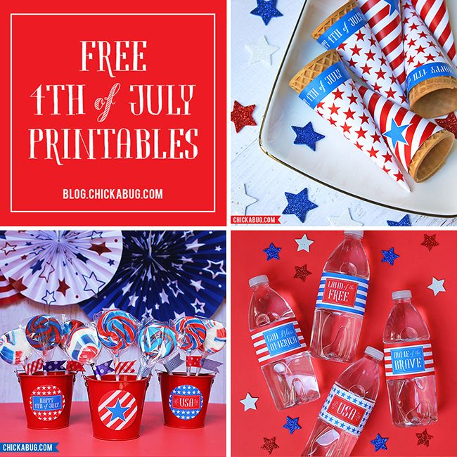 Free printables for the 4th of July!