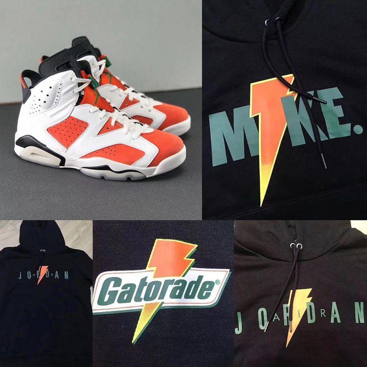 "2,191 Likes, 30 Comments - zSneakerHeadz (@zsneakerheadz) on Instagram: ""2017 Air Jordan Retro 6 #LikeMike #Gatorade Hoodies. ⚡️⚡️"""