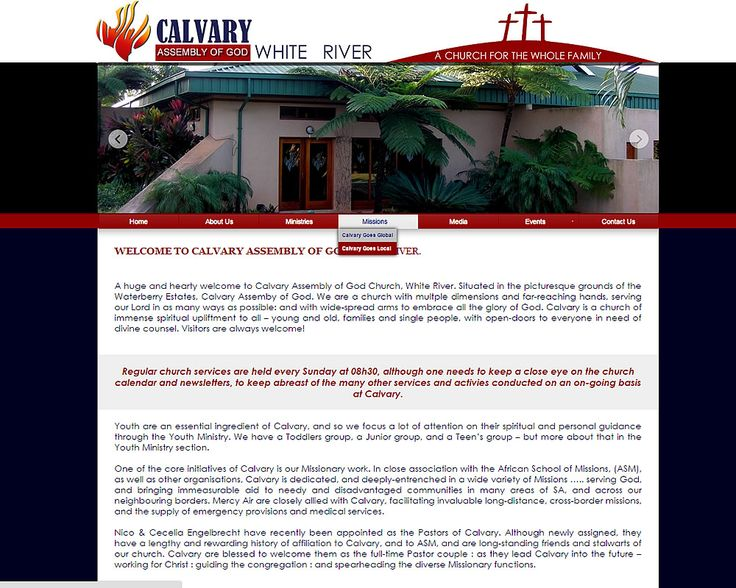 WEBSITE DESIGN >> Calvary Assembly of God (White River Church) By Design so Fine