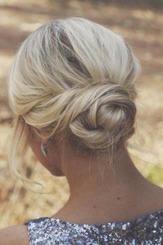 simple and elegant twisted bun.  Madison, WI   blonde, bun, updo, hair, fall, winter