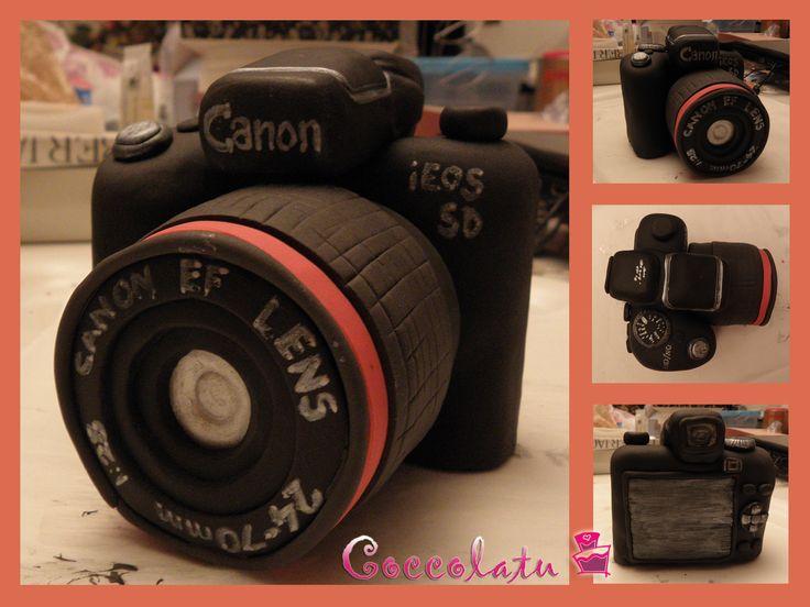 Macchinetta fotografica pronta per essere messa sulla torta ;)