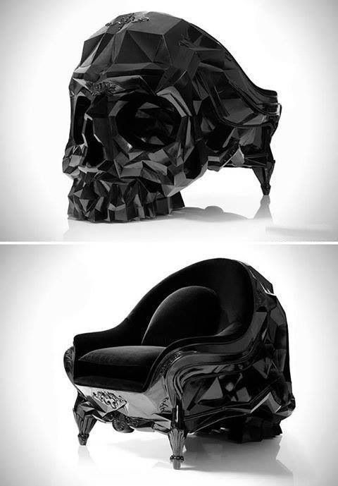 Skull chair. This. would be. Awesome. And I'm not a dark emo person, this is just awesome :)