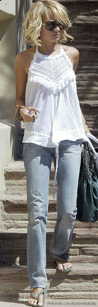 Love this blouse & her hair!!