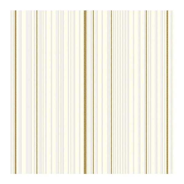 Now $99 - Shop this and similar wallpaper - DESIG MAESTRO STRIPE GOLD / WHITE Graham & Brown