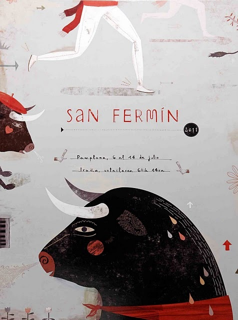 san fermin festival poster finalist /// another Spanish bull festival that embarrass me :-(((