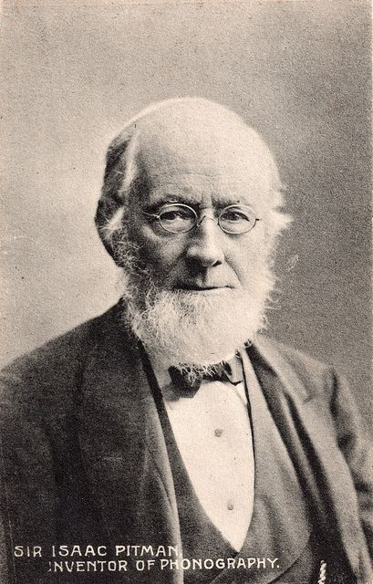 On this day  4th December, 1813  Sir Isaac Pitman was born. English inventor of the first major shorthand system. Pittman founded a company called Sir Isaac Pittman & Sons which became one of the world's leading educational publishers and training businesses. In 1837 he became a teetotaller and vegetarian, practices in which he attributed his health and his ability to work long hours.