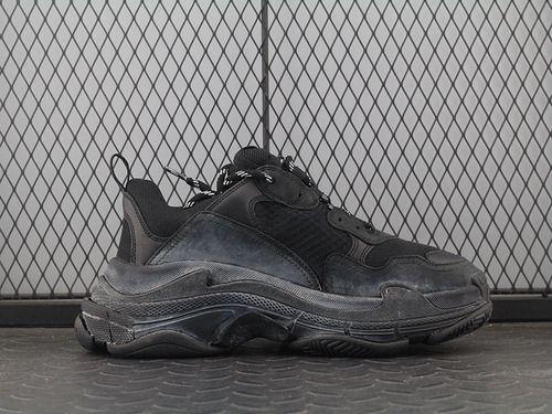 ac25e95fb55 Balenciaga 17FW autumn and winter Balenciaga Triple-S Sneaker fashion retro  platform to do the old grandfather shoes black and white LOGO483513 W06E2  ...