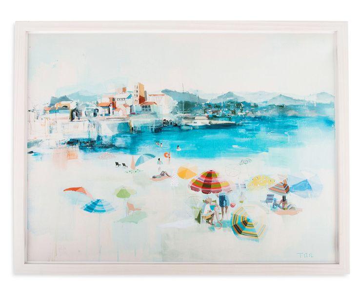teil duncan beach painting mediterranean coast art
