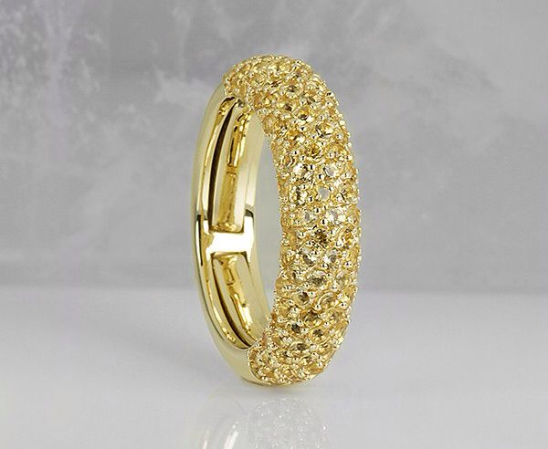 Yellow sapphires ring