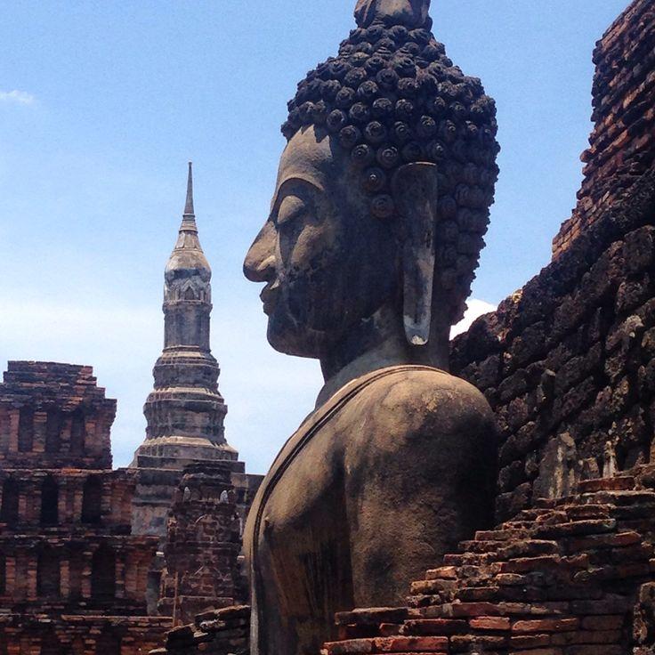 One of many Buddhas in Sukhothais old city #Sukhothai #oldcity #travel #Thailand #thai #ruins #buddha #Buddhism