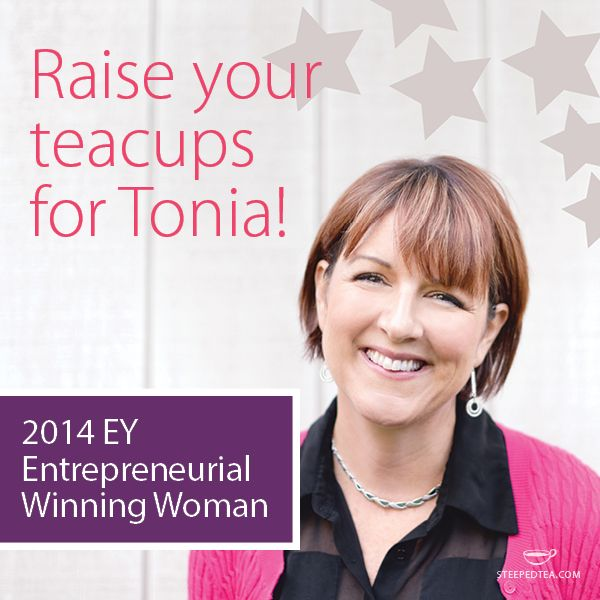 Steeped Tea's founder Tonia Jahshan has been named one of 13 winners of the 2014 class of EY Entrepreneurial Winning Woman. Way to go, Tonia!  Check out our blog to read more about it: http://bit.ly/1Bgdz3y