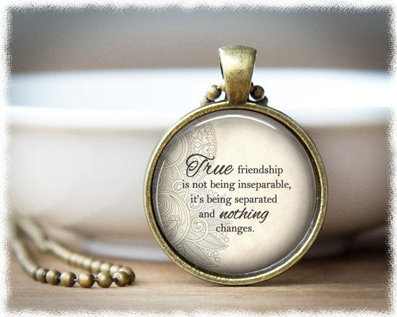 Friend Long Distance Jewelry Best Friend Quote by SuedeSentiment
