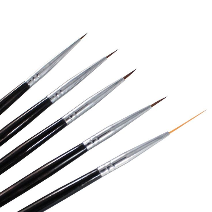 Winstonia 5 pcs Professional Nail Art Set Liner + Striping Brushes for Short Str  | eBay