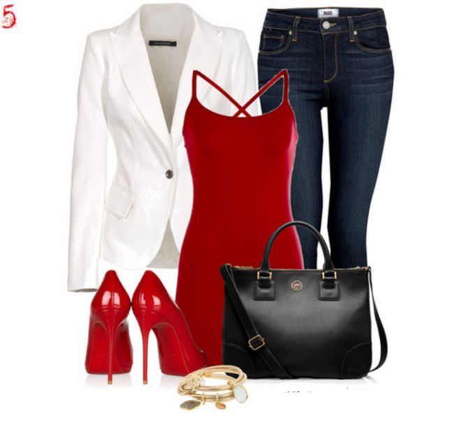 Red Heels Outfit