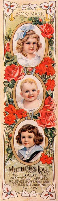 """Victorian """"Mother's Love for Baby"""" Book-Mark"""