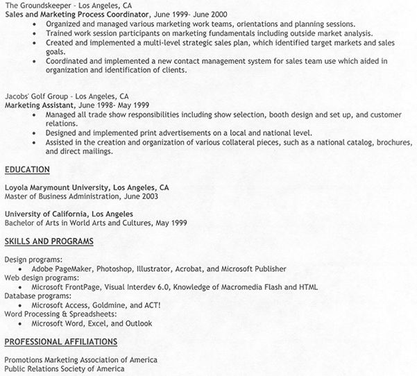104 best The Best Resume Format images on Pinterest Resume - resume job experience examples