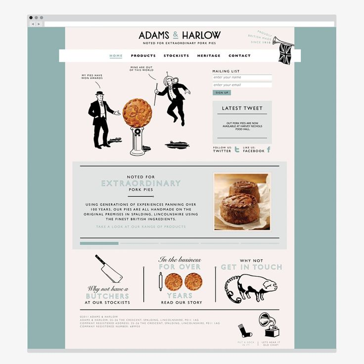 Adams & Harlow website - Designers Anonymous