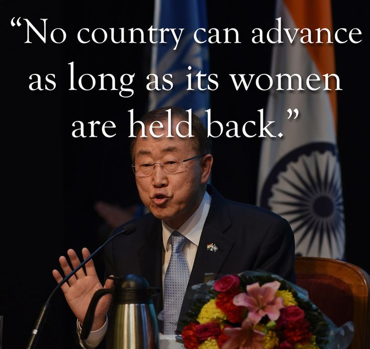 On women's rights: | 6 Excerpts From Ban Ki-Moon's Speech In New Delhi That India Should Pay Attention To