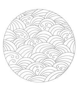 Japanese design for coloring meditation