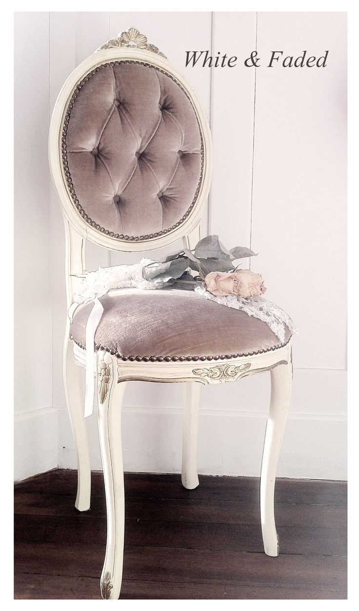 Vintage armless chairs - Vintage Armless Round Back Chair