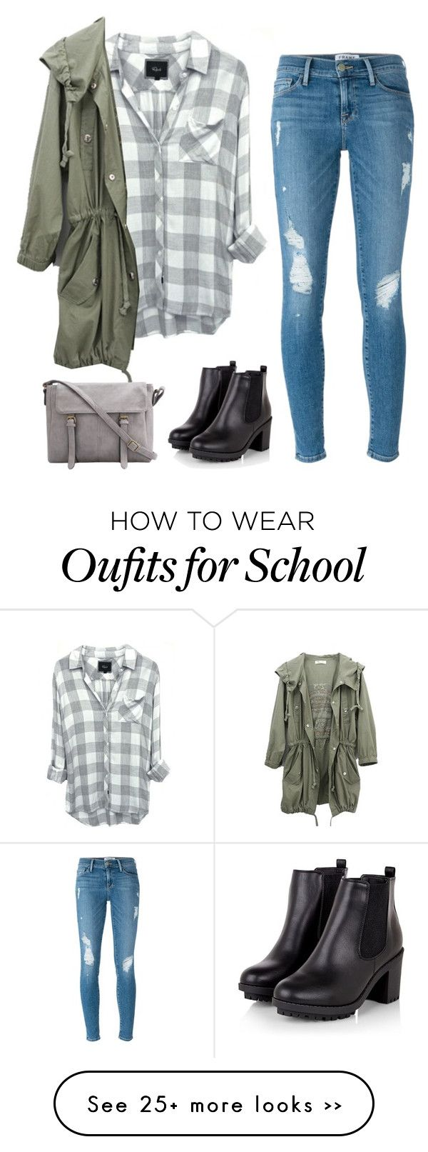 """back to school in style"" by niclex on Polyvore featuring Frame Denim"