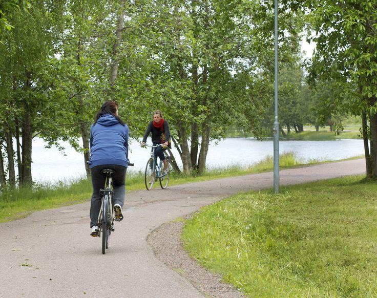 Fina och trygga cykelvägar i Falun
