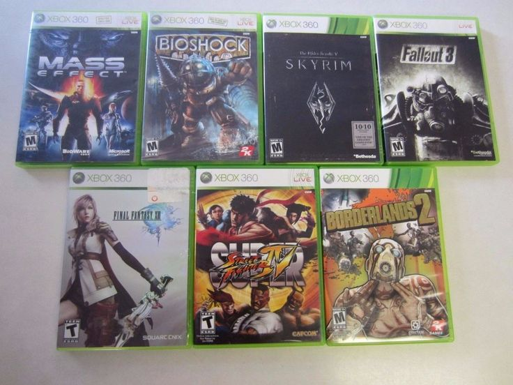 XBox 360 Games Lot 7 Mass Effect Bioshock Skyrim Fallout 3 Final Fantasy XIII #XBox360