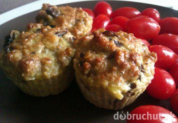 Fotorecept: Šampiňónové muffiny bez múky