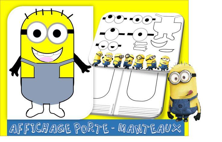 Chaque élève décore librement son personnage. Je me suis amusée à faire différents modèles…Je pense que les enfants adoreront inventer leurs petites créatures jaunes ! ETIQUETTE PORTE MANTEAU MINIONS  Voici une contribution de Romain réalisée avec un logiciel dessin, merci ! minions Romain pour ReCreatisse   Nos porte-manteaux sont enfin arrivés, voici nos …