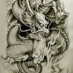Oriental Dragon Tattoo Style (16)