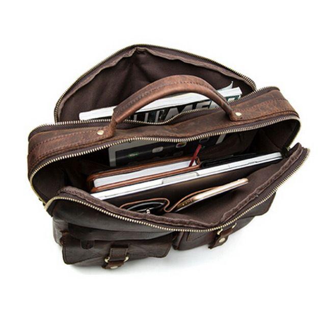 Marrant crazy horse bolso de cuero genuino de los hombres casuales bolsos men bolsas de viaje de los hombres bolsa de ordenador portátil de mano crossbody maletines hombres bolsas