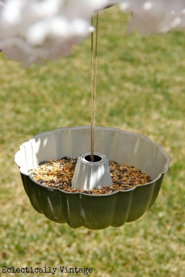 DIY:: Bundt Pan Bird Feeder - and the simplest way to hang it!