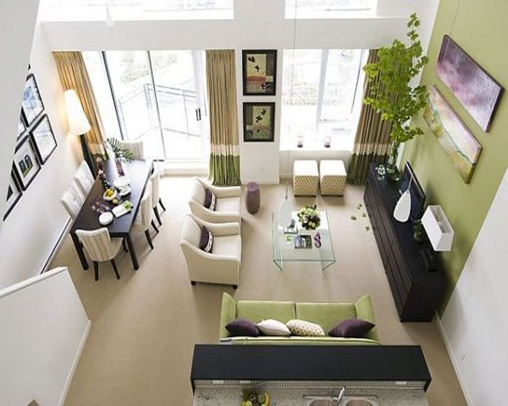 Very Small Living Room Decorating Ideas Combined With Dining Room