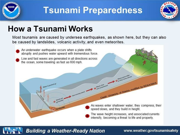 How A Tsunami Works Graphic From Noaa
