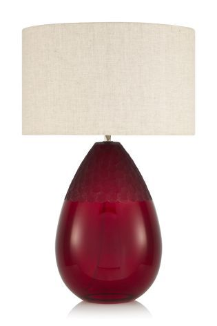 Buy Hand Carved Glass Table Lamp from the Next UK online shop