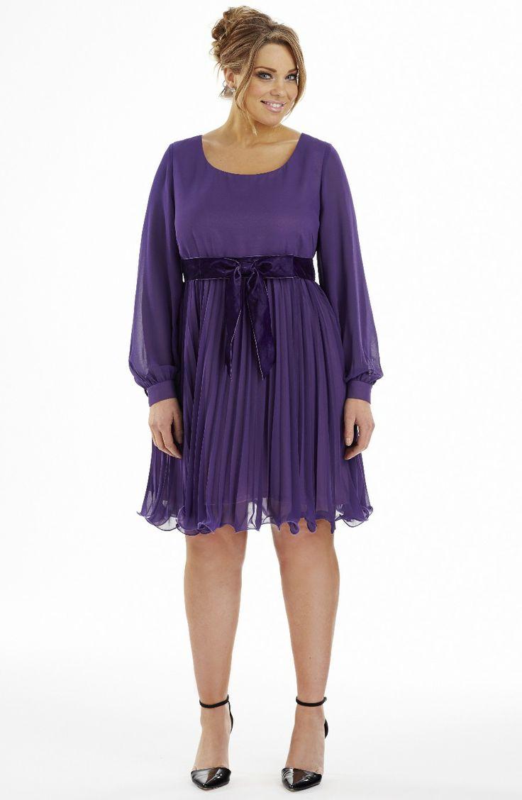 Plus size babydoll baby doll dresses - Sunray Pleat Babydoll Dress Purple Style No D2166 Imitation Silk Sunray Pleat Baby Doll