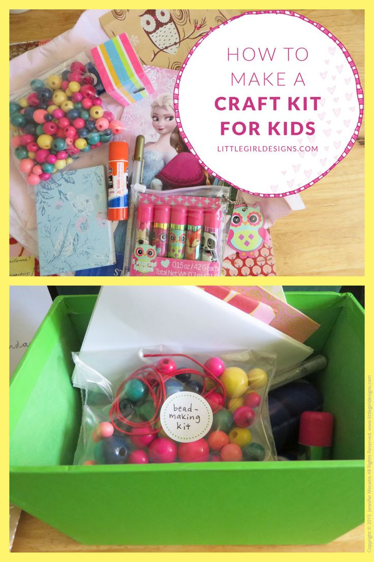 Craft sets for kids - How To Make A Craft Kit For Kids
