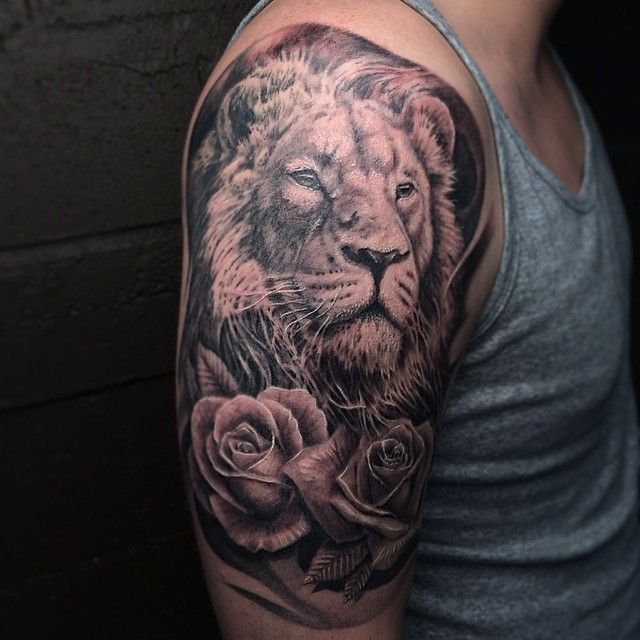 20 Lion Into Rose Tattoos For Men Ideas And Designs