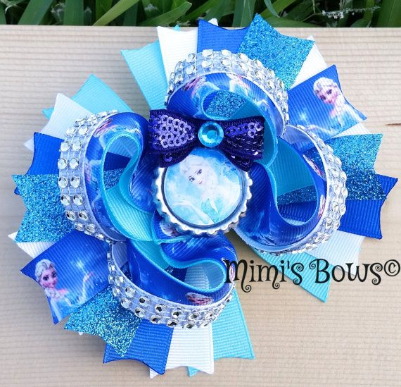 Check out this item in my Etsy shop https://www.etsy.com/listing/290601585/frozen-boutique-hair-bow