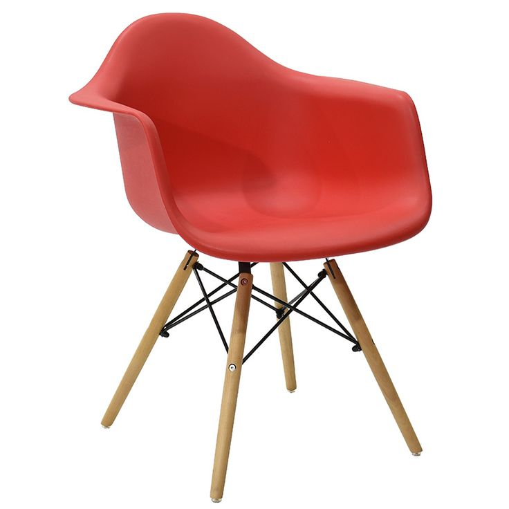 Propylene armchair Julita red