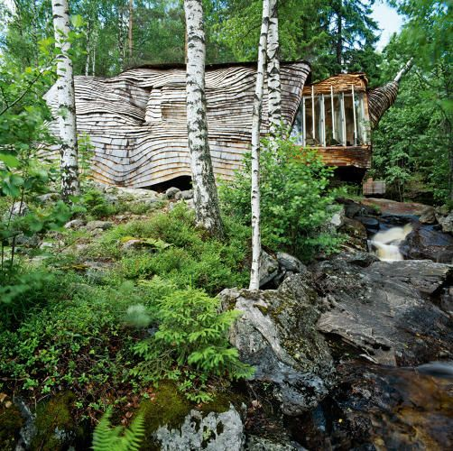<p>Dragspelhuset, Glaskogen Nature Reserve, Sweden<br /> Architect: Maartje Lammers and Boris Zeisser</p>