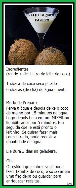 LEITE DE COCO É UM LEITE VEGETAL ÓTIMO PARA SUBSTITUIR O LEITE DE VACA QUE É…