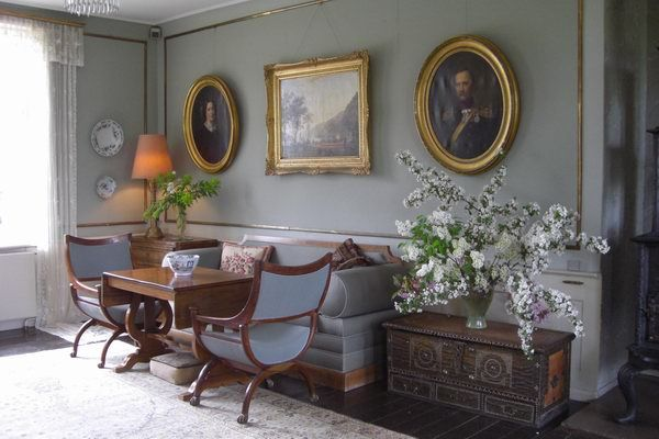 Interior from the Karen Blixen museum in Denmark. Maybe my favorite house museum of all time.