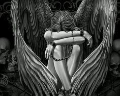 Ze hebben mijn vleugels gebroken, omdat ik niet mocht herrijzen deze keer. A fallen Angel.
