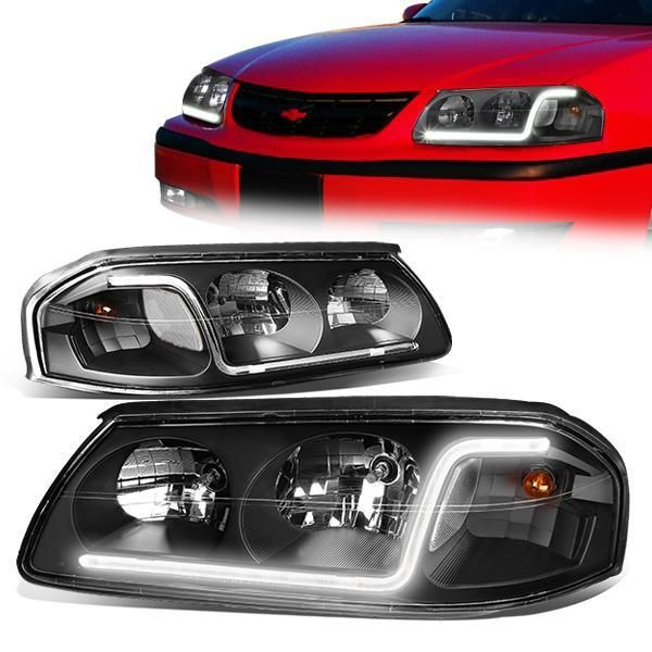 Spyder Chevy Impala 06 13 Chevy Monte Carlo 06 07 Projector Headlights Led Halo Led Replaceable Leds Black High H1 Included Low In 2019 P