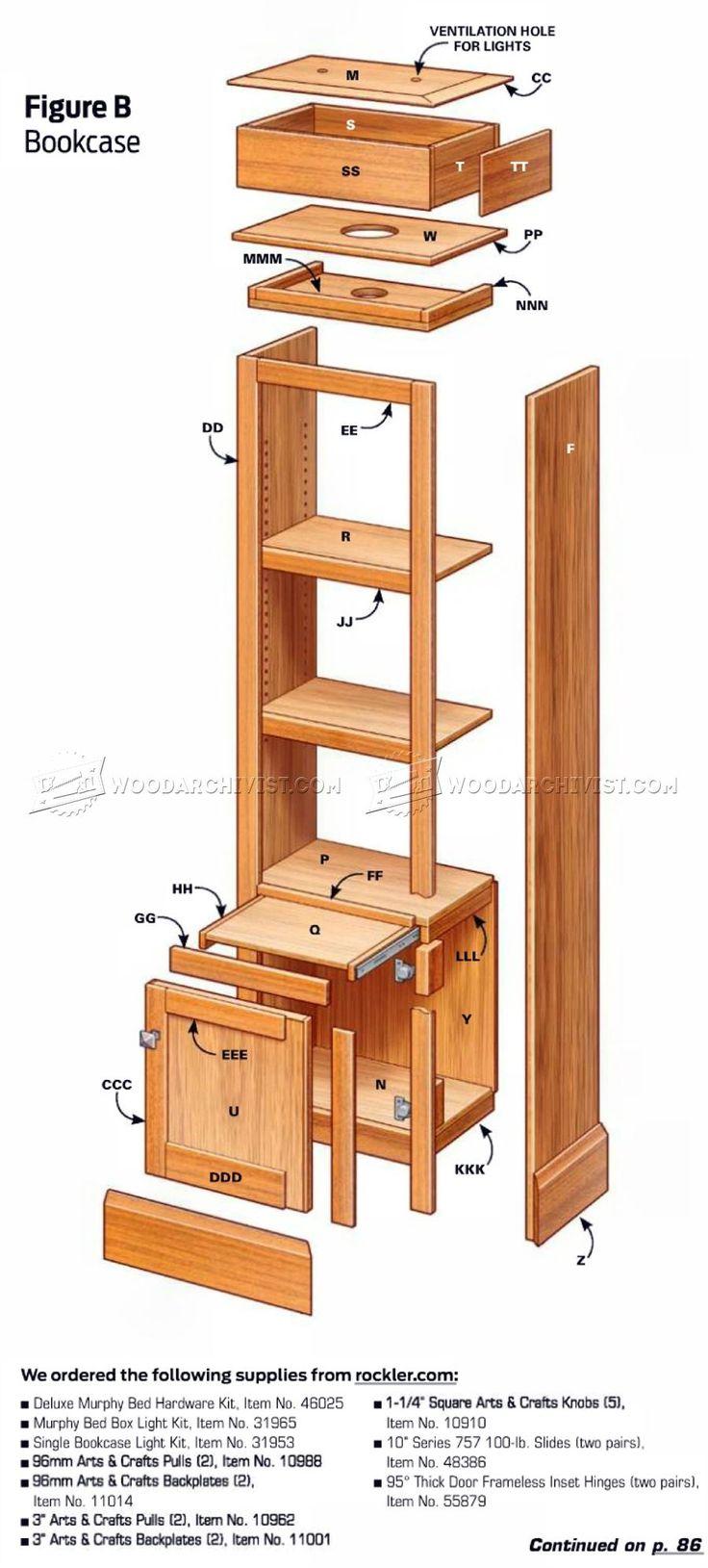M s de 25 ideas incre bles sobre camas murphy en pinterest - Construir cama abatible ...
